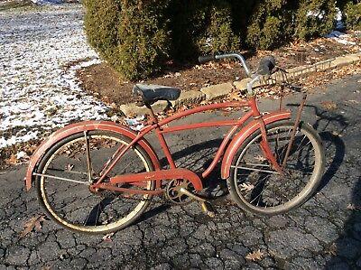 "Vintage Schwinn 24"" Men's Tornado Bike - Original - Basket - Good"