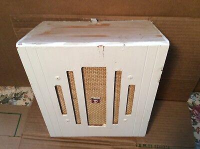 """Vintage DuKane 8"""" Speaker In Original Wood Wall Cabinet - Very Good"""