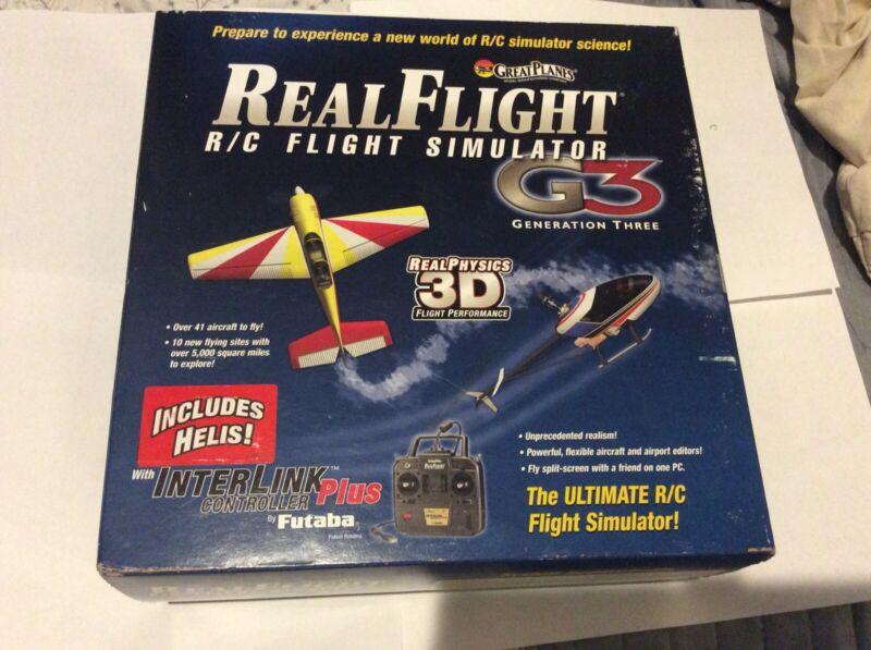 REALFLIGHT G3 R/C FLIGHT SIMULATOR COMPLETE W/ FUTABA INTERLINK GENERATION 3