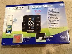 AcuRite Projection Alarm Clock Weather Station Wireless Outdoor Sensor 13026 New