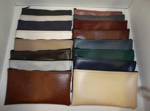 6 Assorted Zippered Bank Deposit Bag Carry Pouch Safe Money Organizer Tool Bag