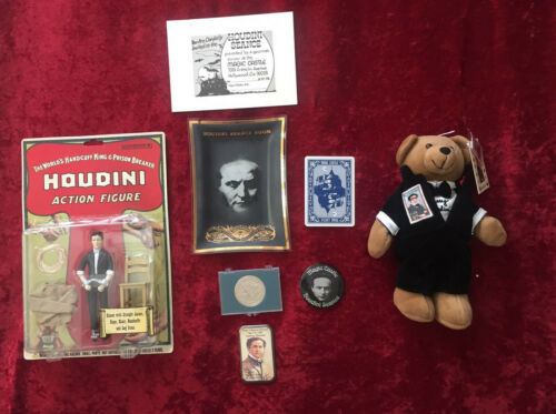 *HOLLYWOOD MAGIC CASTLE* COLLECTIBLES - Houdini Tray–PIN – COIN – PLUS MORE!!