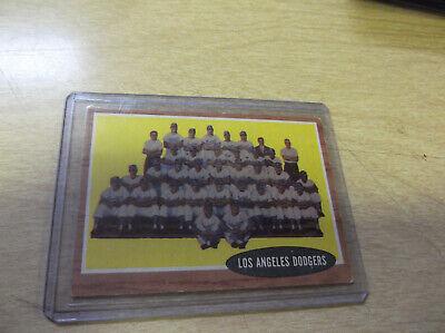 1962 TOPPS BASEBALL #43 LOS ANGELES DODGERS TEAM (Los Angeles Angels Team Store)