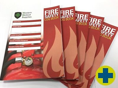 Fire Safety Log Book - Pack of 2