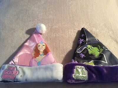Glinda Wicked Halloween Costumes (NEW Witches Hat Reversible Good Glinda Bad Wicked Witch Wizard Of Oz)