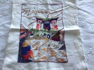 Vintage Unusual Hand Embroidered  Textile Stylised