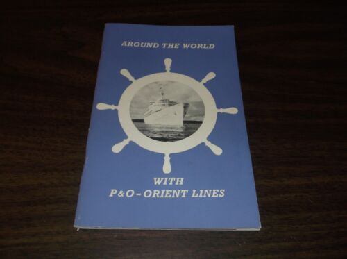 1961 AROUND THE WORLD WITH P&O ORIENT LINES 48 PAGE ILLUSTRATED BOOKLET