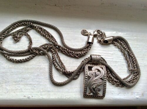 SILPADA STERLING - Paisley Pendant And Four Strand Chain Necklace N1719 S1744