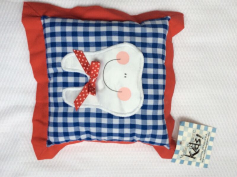 Red Blue Boys  Girls Tooth Fairy Pillow