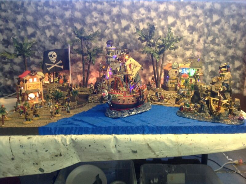 halloween village display platform For Lemax Spookytown Pirates Dept56
