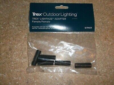 Trex Outdoor Lighting Lighthub Adapters Female/Female DLFADAP6PK NEW Ships FREE!