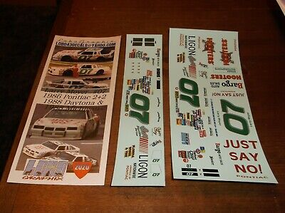 Larry Moyer #07 1986 HOOTERS Pontiac 2+2 1/24th scale decals LoboGraphix