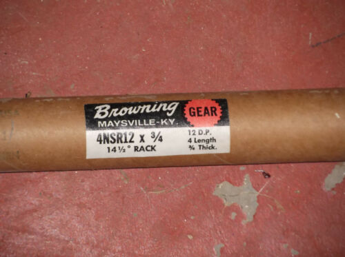 """NEW, Browning 4NSR12 X 3/4"""" GEAR RACK, 12 pitch; 4 ft.; 14.5 degree 3/4 in. .75"""