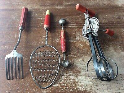 Vintage Kitchen Tools USA 1940s 1950s Home Decor Kitchenware Country Manual Farm