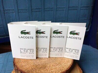 Lacoste L.12.12 Eau de Lacoste Blanc-Pure EDT spray sample size-GET 4 SAMPLES