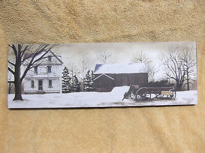 WINTER Christmas Trees Sale Barn Country Canvas Wall Decor Billy Jacobs LONG