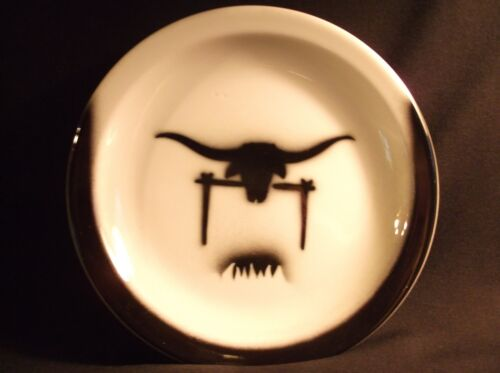 RARE (2 pc.)JACKSON CHINA LONGHORN STEER CUP & PLATE