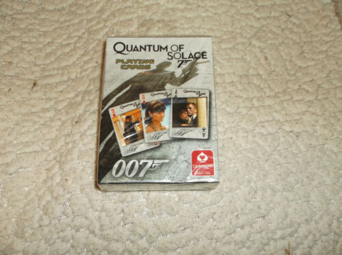 2008 JAMES BOND 007 QUANTUM OF SOLACE PLAYING CARDS NEW SEALED MADE IN USA DECK