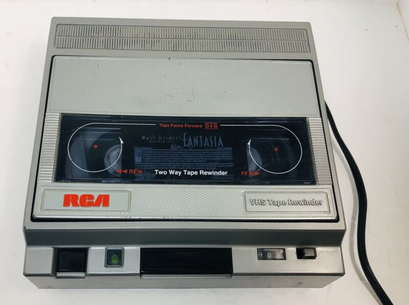 RCA Two Way VHS Video Tape Rewinder URV-2 Vintage