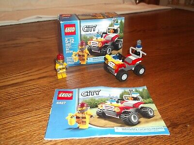 VINTAGE LEGO CITY #4427 FIRE ATV SET 100% COMPLETE WITH BOX AND MANUAL