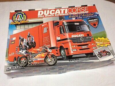 Italeri Ducati Corse N 3815 2002 Scala 1:24 Truck Trailer Whit Motorcycle