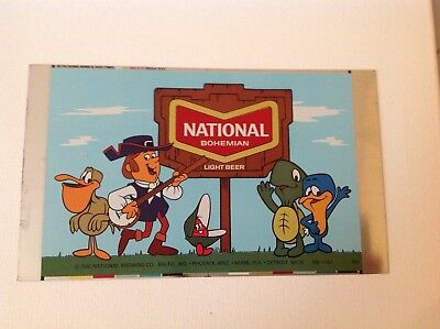 Very Rare  National Bohemian Cartoon Beer Can  Never Rolled And Never Used