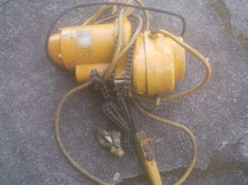BUDGIT 1/2 TON ELECTRIC CHAIN HOIST B-108