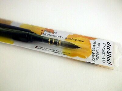 DA VINCI CASANEO Quill Round Synthetic Squirrel Travel Watercolor Brush 1598  Da Vinci Watercolor Brushes
