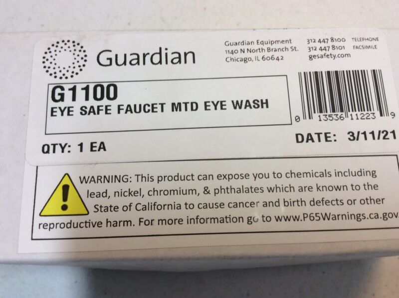 Guardian Equipment G1100 Faucet Mounted Eyewash Station No Bowl