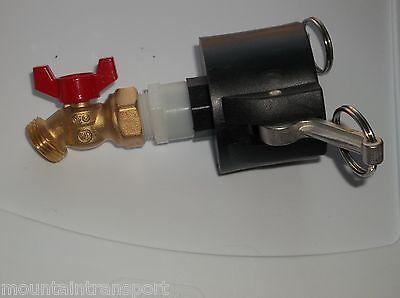 "275-330-GALLON-IBC TOTE-TANK ADAPTER 2"" Cam Lock x Garden Hose Faucet Valve Hf"