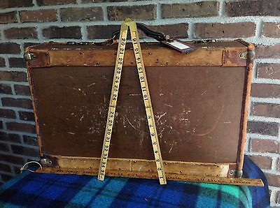 VINTAGE 1930'S HERRODS FEATHERWEIGHT LEATHER LUGGAGE RACK SUITCASE  R$1558