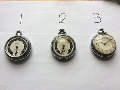 Joblot 3 Pocket Watches Smiths And Ingersoll Spares Or Repair