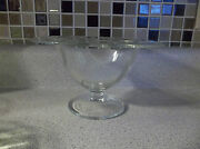 Clear Etched Glass Bowl