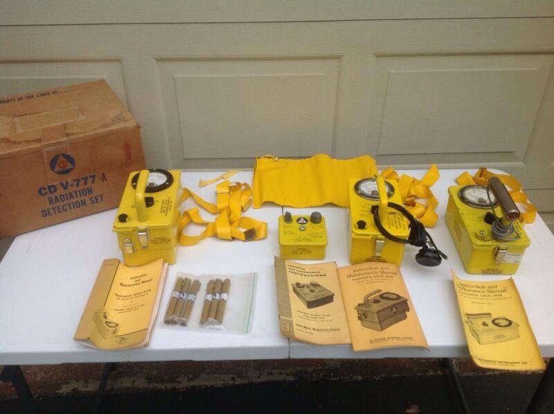 Civil Defense CD V-777-A Radiation Detection Set w/ Original Box Geiger Counter