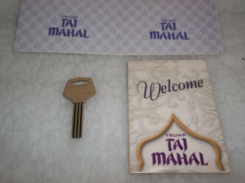 2002 TRUMP TAJ MAHAL Casino Hotel Genuine Room 3414 Key Holder and Card Metal
