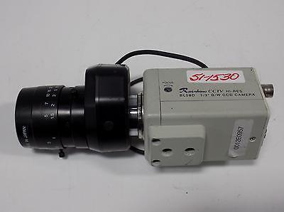 """Rainbow BL58D CCTV Hi-Res 1//3/"""" B//W CCD Camera w// 6mm 1:1.4 C 1//2/"""" M30.5 Lens"""