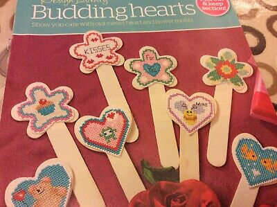 38 Budding Hearts Sweetheart And Flower Motifs Cross stitch chart Only (891) for sale  Shipping to South Africa
