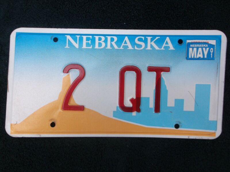 2001 Nebraska License Plate