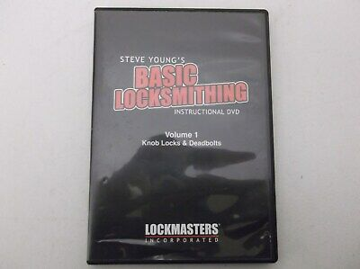Basic Locksmithing Dvd And Ilco Mini Mite 008a Key Cutterduplicator Used