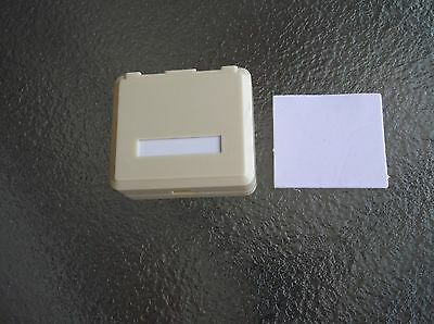 Qty 100 - 2 Port Surface Mount Box Ivory For Rj45 Keyston...