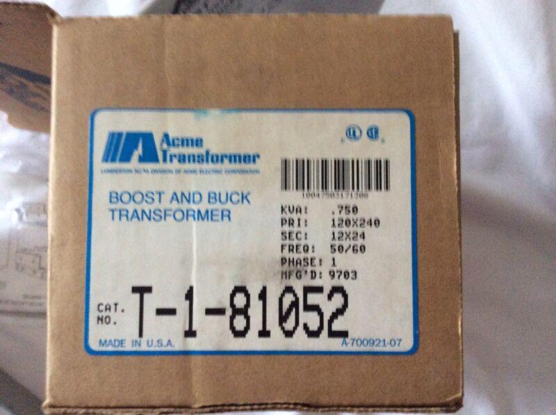 Acme Electric Transformer T-1-81052