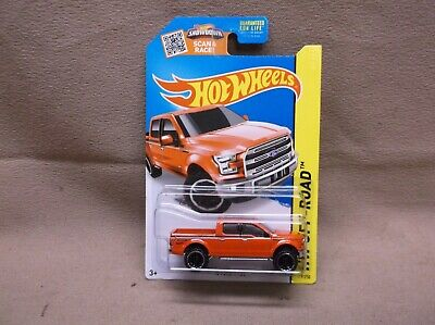 HOT WHEELS RED 2015 #119 2015 15 FORD F-150 4 DOOR 4X4 OFF ROAD SPORT TRUCK