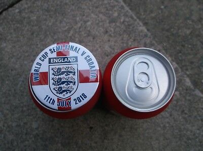 ENGLAND V CROATIA WORLD CUP SEMI-FINAL BADGE  55mm  IN SIZE