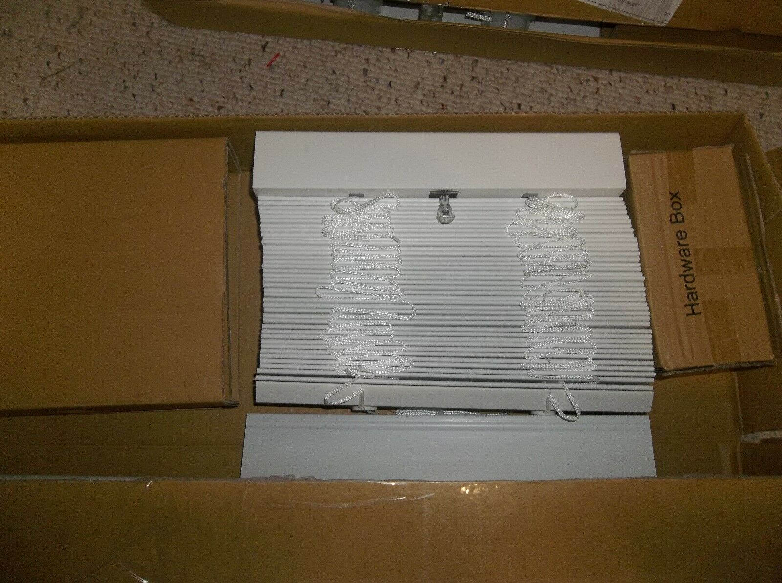White 2-inch Faux Wood Blind 10 BY 72 INCHES LONG.GWF. WHITE