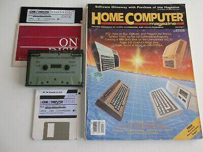 ti994a HomeComputerMagazine 1984 v4 n1 (ORIGINAL) + ON-DISK (REFURBISHED)
