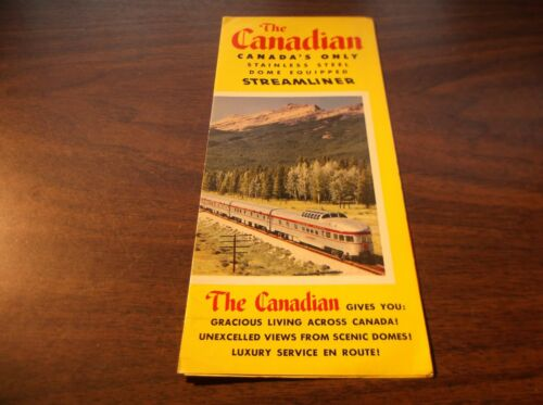 CANADIAN PACIFIC THE CANADIAN STREAMLINER PUBLIC TIMETABLE