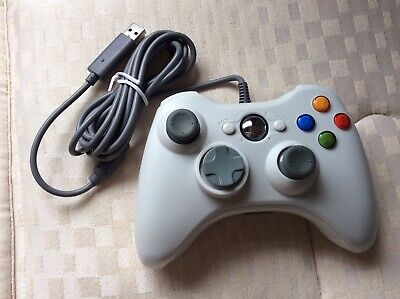 New Xbox 360 PC White Compatible Controller Wired Game Pad