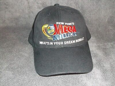 Vintage New York Lottery Mega Millions Hat Cap Adjustable Strap   Ny State