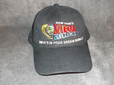 Vintage New York Lottery Mega Millions Hat Cap Adjustable Strap   Ny State