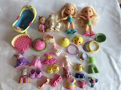 Lot Of Fisher Price Snap N Style Dolls Baby Dog  Clothes